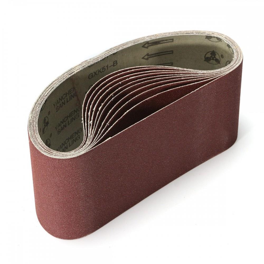10pcs 100 x 610mm Sanding Belts 40-120 Grit Aluminium Oxide for Sander
