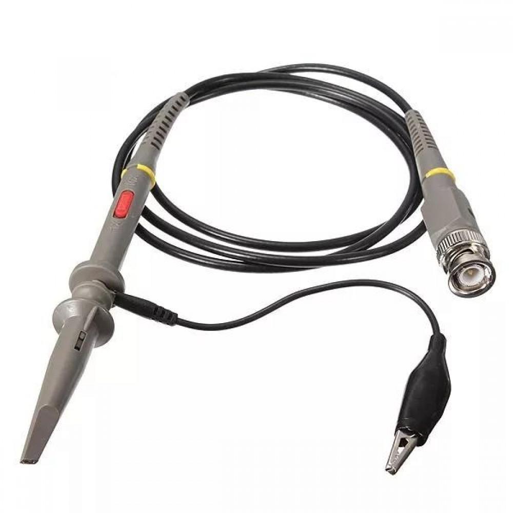 2Pcs P6100 Oscilloscope 100MHz PKCATI BNC Clip Probe Clip Cable