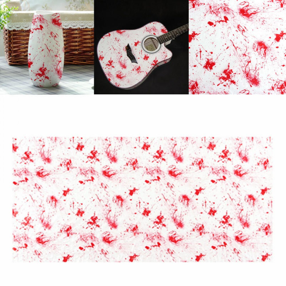 0.5 x 1M/2M Water Transfer Printing Film Hydrographics Bloodstain Red Decorations