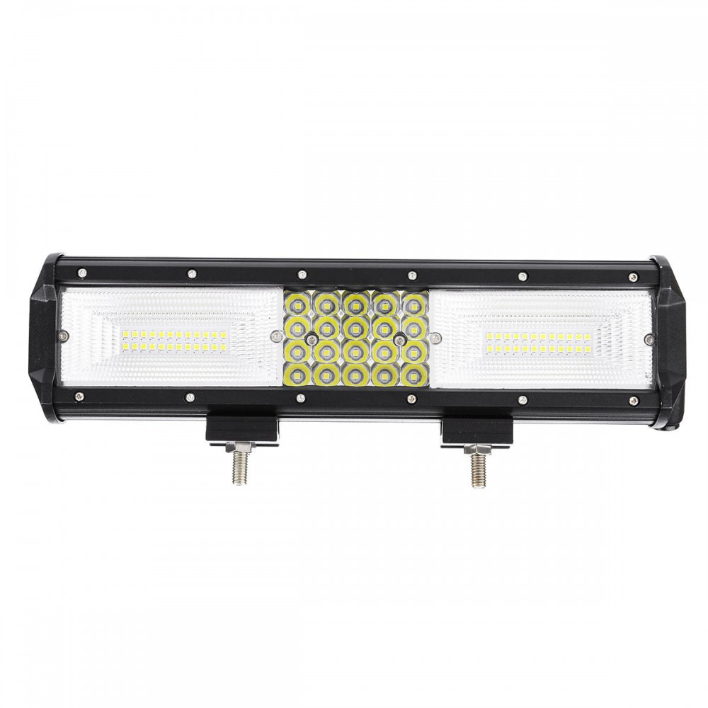 12Inch 204W LED Work Light Bars Combo Beam IP68 Waterproof Pure White DC 10-30V for Off Road Truck SUV Trailer