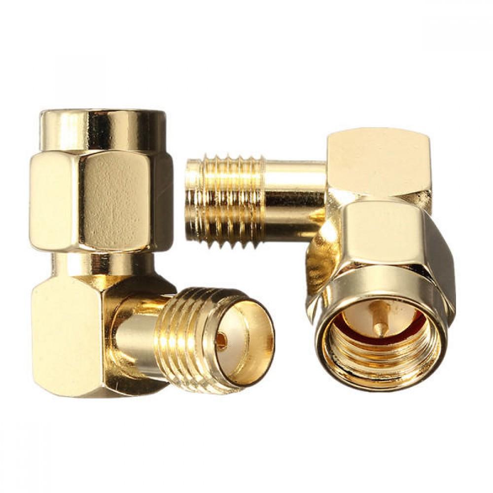 DANIU-SMA-Male-To-SMA-Female-Jack-Right-Angle-Crimp-RF-Adapter-Connector-924939