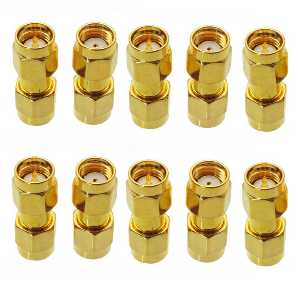 10PCS SMA Male to RP-SMA Male Adaptor RF Connector Straight For FPV RC Drone