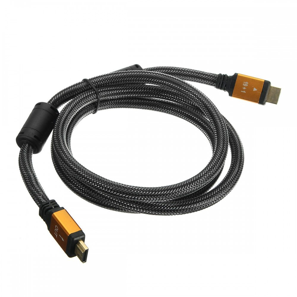 1.5M 3D-Orange HD Cable Lead V2.0 Gold High Speed for HDTV Ultra Hd HD 2160p 4K