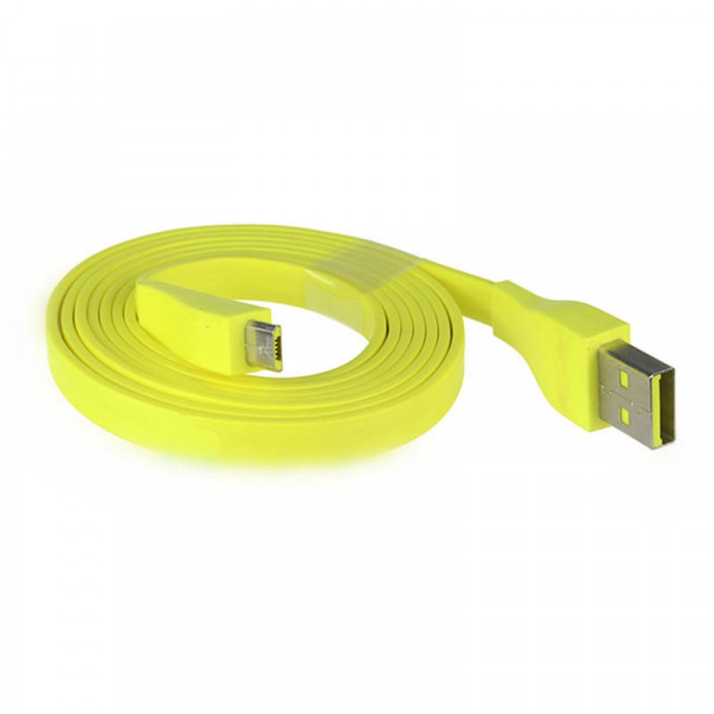 1.2M Yellow Micro USB Charging Cable for Logitech UE BOOM bluetooth Speaker