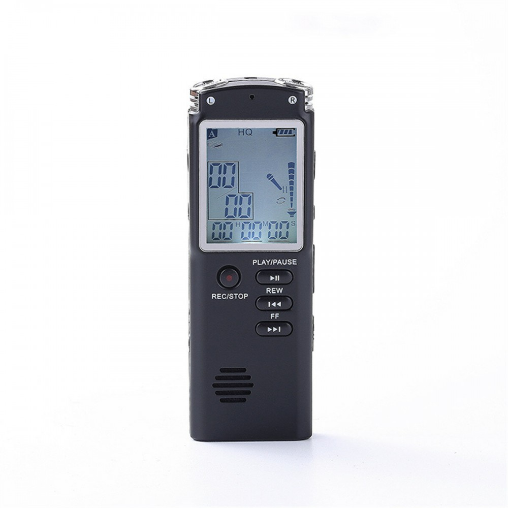 Digital Voice Recorder 8/16/32GB MP3 Lossless Player USB Audio Rechargeable Mini Dictaphone