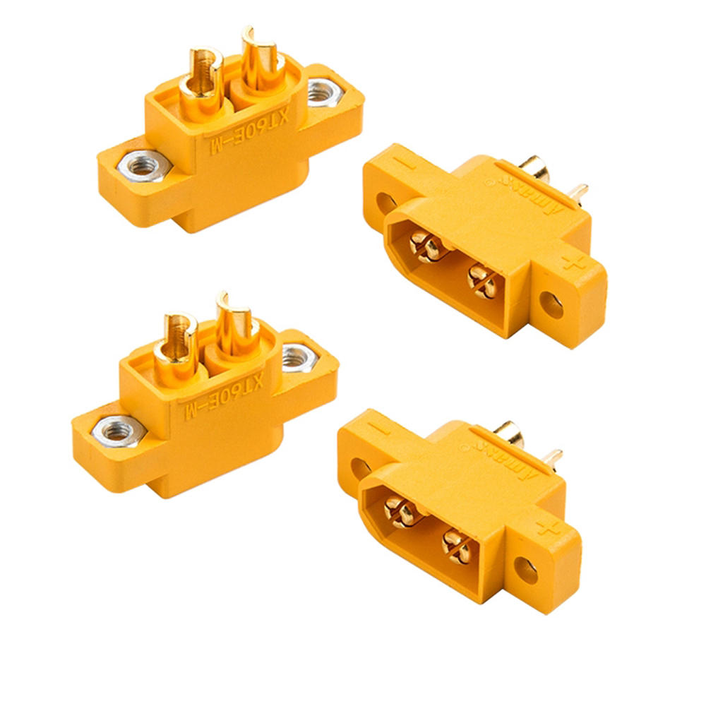 4PCS RJX Amass XT60E-M Connectors Male Plug XT60 E Plug To M Plug For RC Battery FPV Racing Drone
