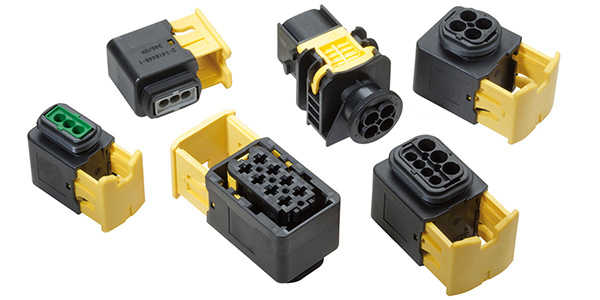 What are the 5 common connector plastic materials?